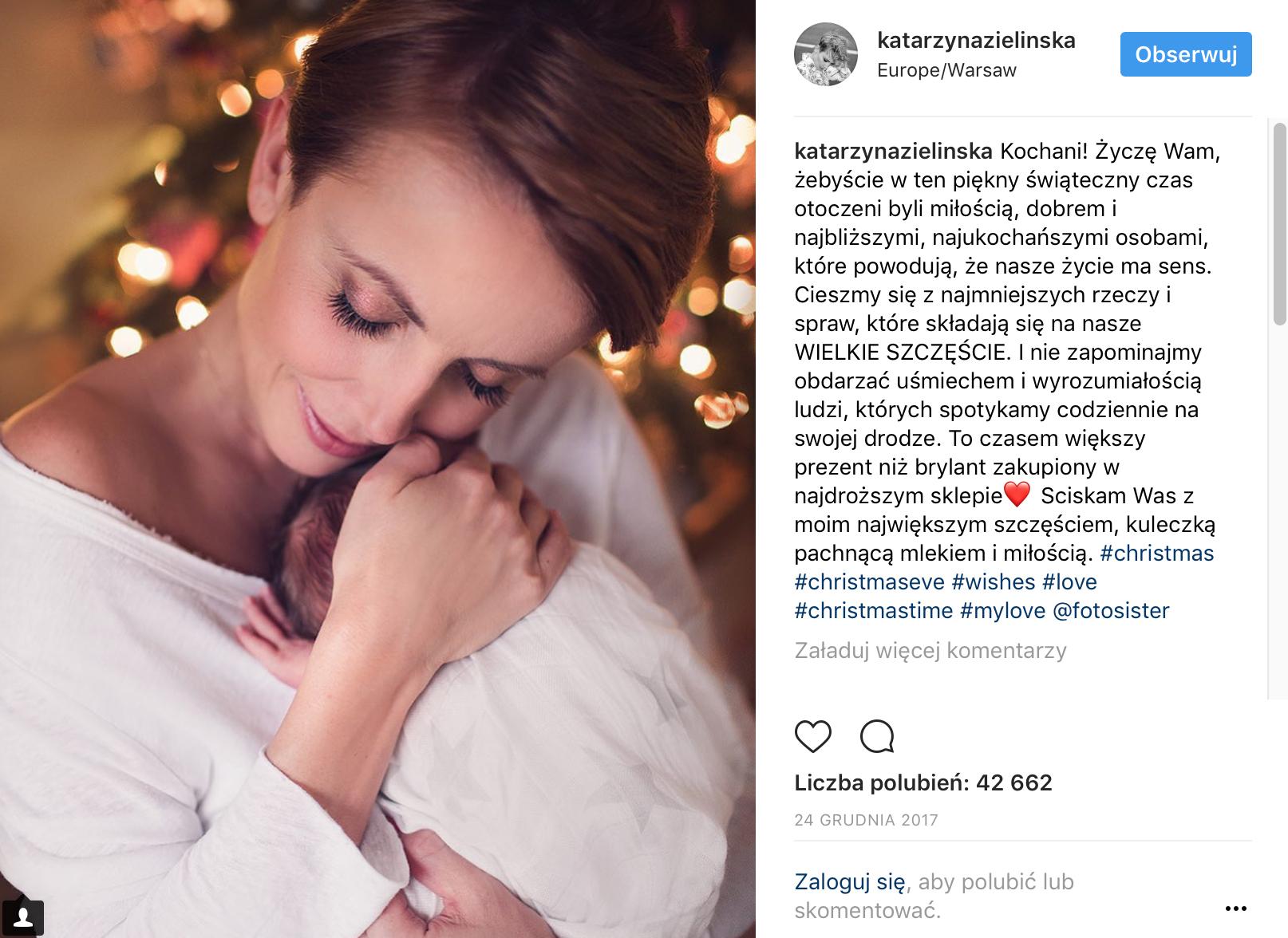 Zdjęcie noworodkowe na instagramie Kasi