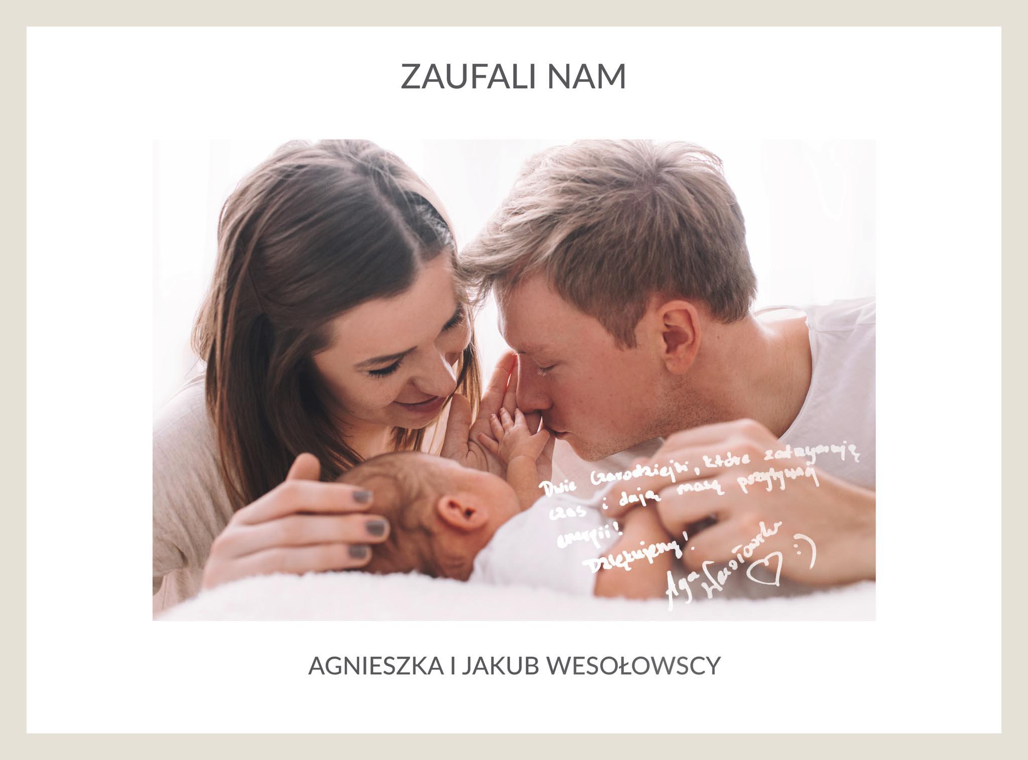 Agnieszka i Jakub Wesołowscy i sesja noworodkowa małej Róży